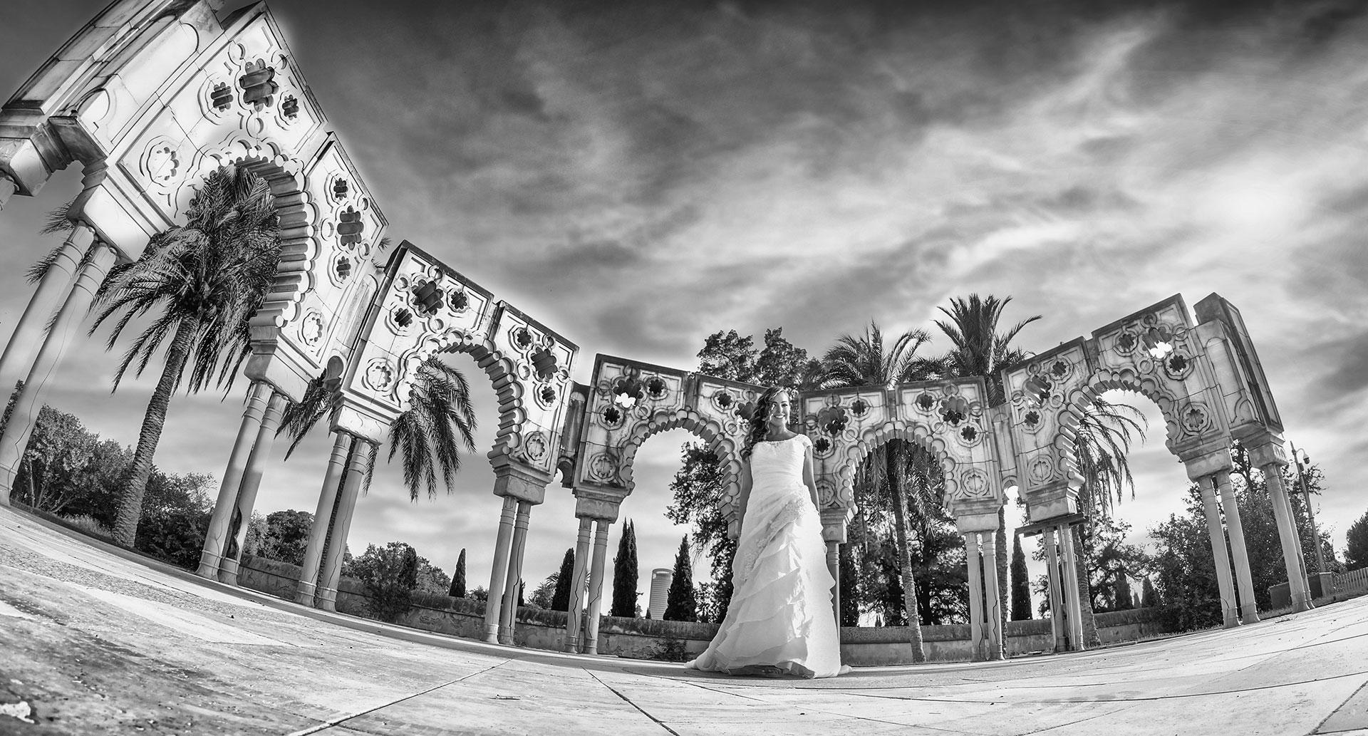 sesion fotos de boda pabellon de marruecos isla de la cartuja expo92